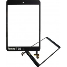 BLACK APPLE IPAD MINI 2 RETINA TOUCH GLASS GEN 2 WITH HOME BUTTON AND SMALL IC