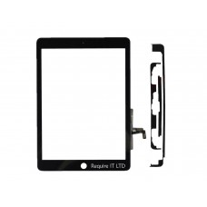 NEW BLACK TOUCH GLASS DIGITISER + TAPE FOR IPAD AIR 1 MODEL A1474 A1475