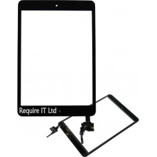 NEW BLACK TOUCH DIGITIZER PANEL GLASS FOR iPAD MINI 3 & HOME BUTTON MODEL A1599